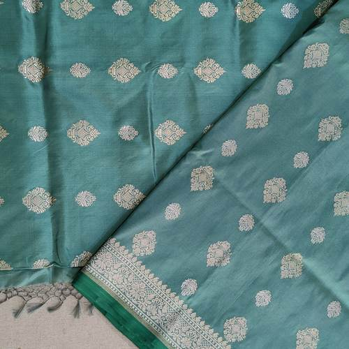 Teal Woven Benarsi Saree by Islam Silks & Saree