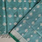 Teal Woven Benarsi Saree by Islam Silks & Saree