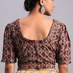 Grey-Brown Dabu Cotton Blouse