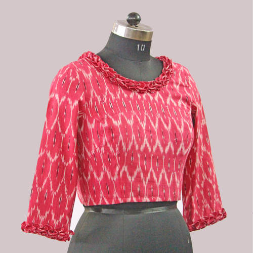 Pink Ikat Cotton Blouse