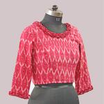 Pink Ikat Cotton Blouse