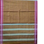 Brown Narayanpet Cotton Handloom Saree