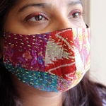 Pack of 4 Silk Kantha Reusable Mask