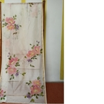 Hand Painted Floral bouquet Handwoven Indian Cotton StoleDupatta