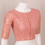 Handcrafted Heavy Embroidered Georgette Blouse With Sequin Embroidery