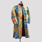Vintage Silk Kantha Long Slit Jacket