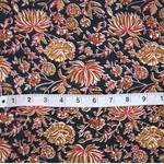 Black Red Floral Printed Fabric Rs 150Meter