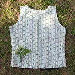 Printed Stripe Silk Waistcoat