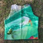 Green Printed Silk Waistcoat