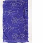 Blue Silk Chiffon Mukaish Work Scarf