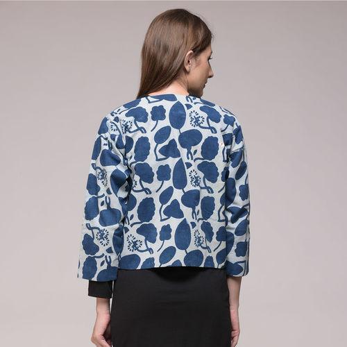 Indigo Printed Floral Jacket