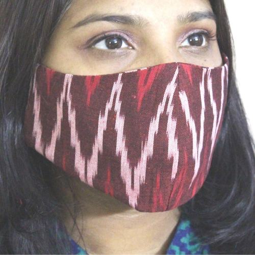 Pack of 4 Handloom Ikat Mask
