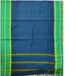 Blue Green Border Narayanpet Cotton Handloom Saree