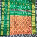 Green Pochampalli Silk Saree by B. Yeswanth