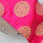 Pink Organza Brocade Indian Ethnic Dupatta