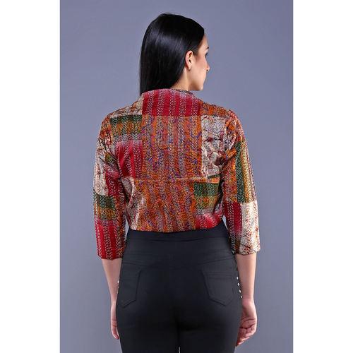 Vintage Silk Kantha Shrug
