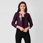 Vine Floral Zari Embroidered Jacket