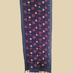 Navy Cotton Hand Kantha Embroidered Dupatta