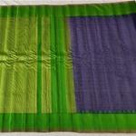 Green Blue Handloom Cotton Saree by Indira Priya Darsini Women's Welfare Association