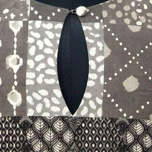 Brown Block Print Dabu Patch Work  Blouse