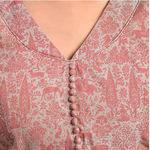 Beige Pink Printed Blouse