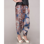 Blue brown Clamp Dyed Harem Pant
