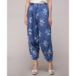 Clamp Dyed Floral Harem Pants