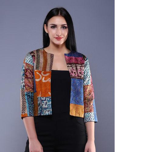 Vintage Silk Kantha Jacket