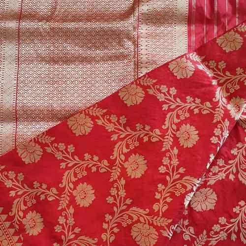 Red Benarsi Silk Saree