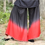 Black Red Ombre Dyed Embellished Palazzo