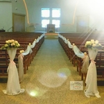 Church Wedding Decor Rose Theme