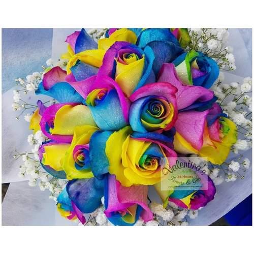 Blue Rose Bouquet 18 stalks