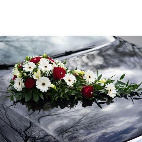 Wedding Car Décor                                                                                   Fresh Flowers Gerbera Theme