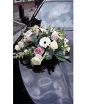 Wedding Car Dcor                                                                                Fresh Flowers  Rose Theme