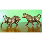 Unique Buffalo Pair Brass