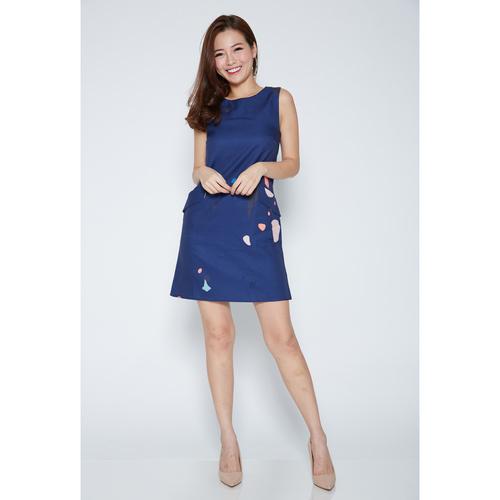 Sleeveless Splatter Shift Dress