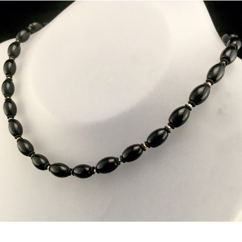 (SOLD)  Bold in Black and Silver