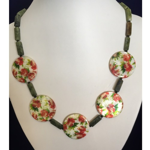 Roses in the Garden fashion necklace