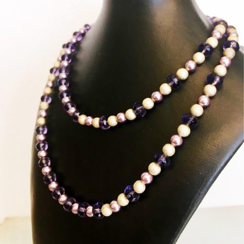Versatile Tanzanite and pearl