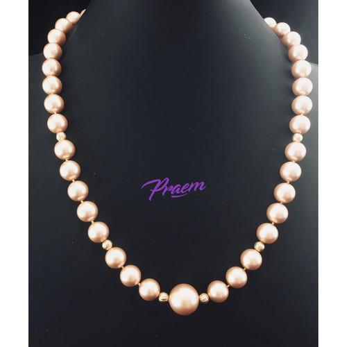 Golden Embrace:  Swarovski crystal pearls