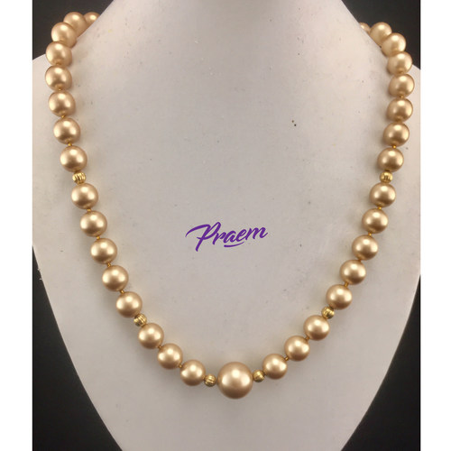 Golden Embrace:  Swarovski crystal pearls