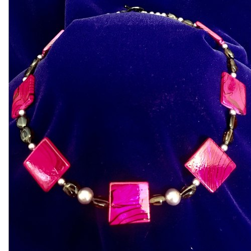 (SOLD)  Vibrance in Fuschia fashion choker