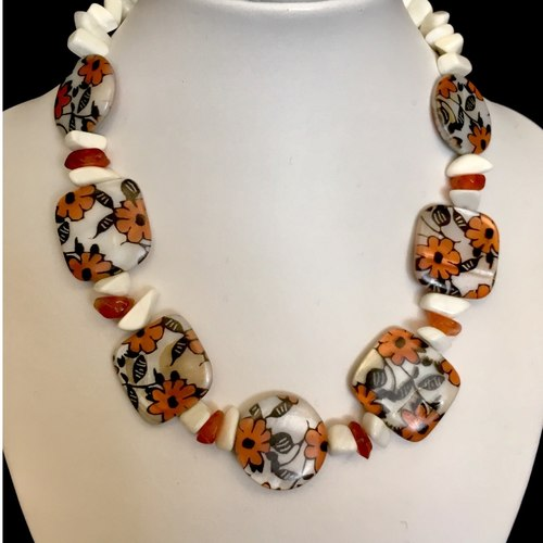 Flowers of Summer fashion necklace