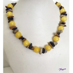 Youthful in Yellow fashion necklace