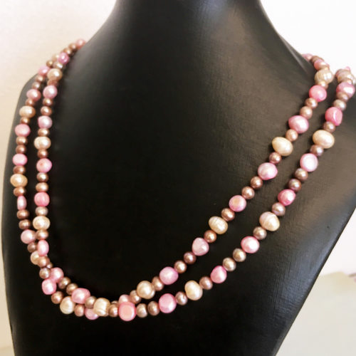 Pink in Pearls: one-of-a-kind necklace