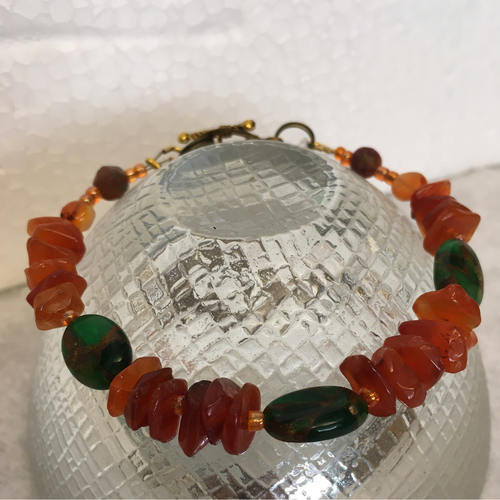 Ring of Fire Gemstone Bracelet