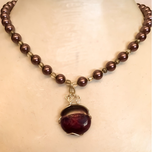 Purple Jacaranda Pearl necklace