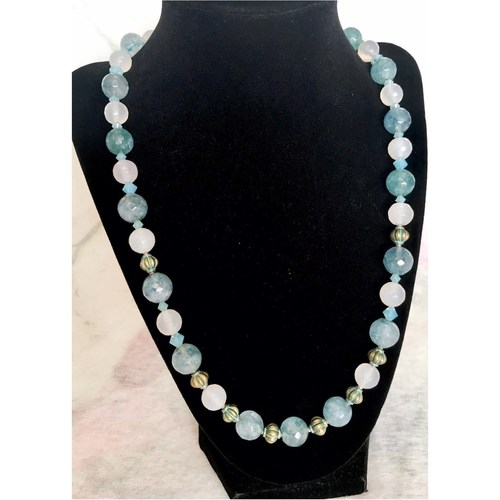 (SOLD)  Les Reves Blues (Blue Dreams): fashion necklace