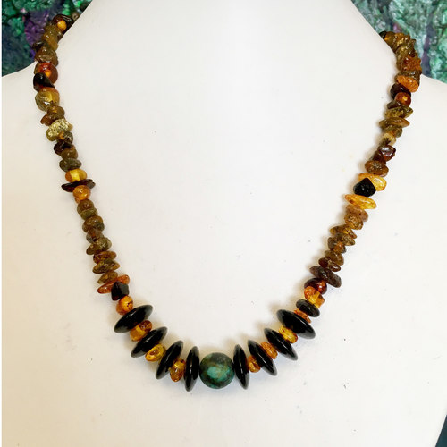 Awesome in Amber necklace