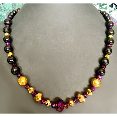 Purple and Gold Dazzler necklace